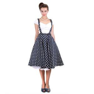 Collectif Liesel Circle Skirt with Suspenders M